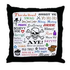 Pirate Phrases Throw Pillow