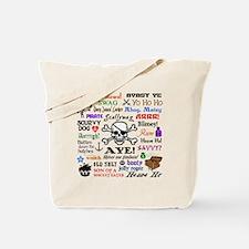 Pirate Phrases Tote Bag