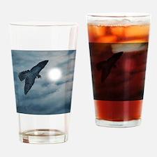 moon-falcon-hunter Drinking Glass
