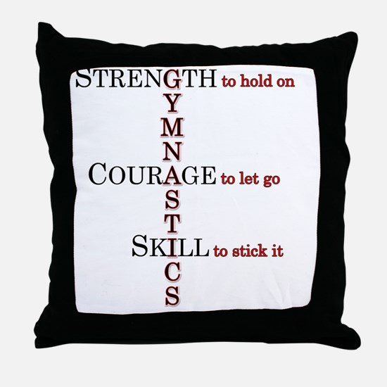 gymstrength Throw Pillow