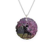 dressage horse 7x9 Necklace
