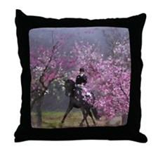 dressage horse 7x9 Throw Pillow