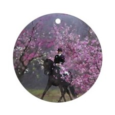 dressage horse 7x9 Round Ornament