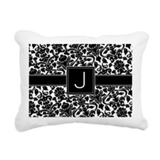 J_bags_monogram Rectangular Canvas Pillow