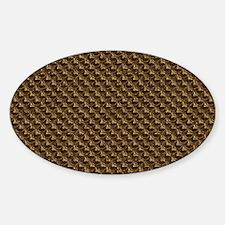 bronzescalecb Sticker (Oval)