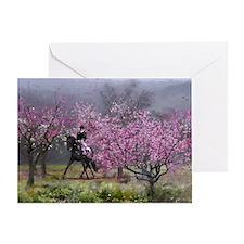 dressage horse 12x20 Greeting Card