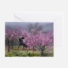 dressage horse 12x20 Greeting Card