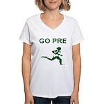 GO PRE Women's V-Neck T-Shirt