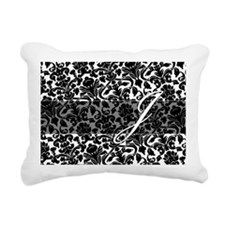 J_bags_monogram_03 Rectangular Canvas Pillow