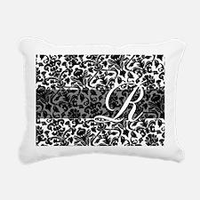 R_bags_monogram_03 Rectangular Canvas Pillow