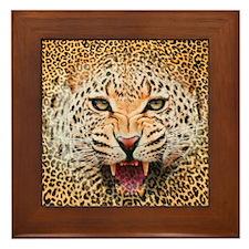 Cheetah wild Framed Tile