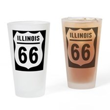 rt66-plain-il-OV Drinking Glass