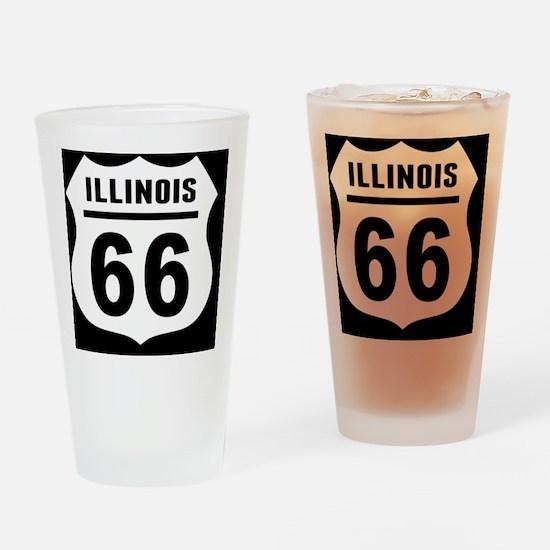 rt66-plain-il-OV Drinking Glass