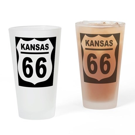 rt66-plain-ks-OV Drinking Glass