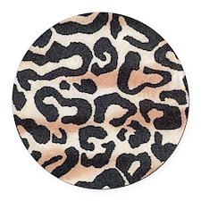 leopard Round Car Magnet