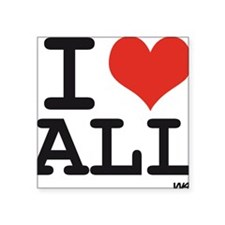 "I love all Square Sticker 3"" x 3"""