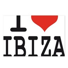 I love Ibiza Postcards (Package of 8)
