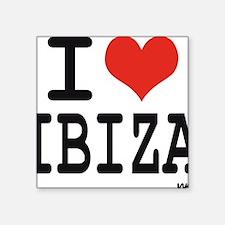 """I love Ibiza Square Sticker 3"""" x 3"""""""