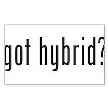 got hybrid? Rectangle Decal