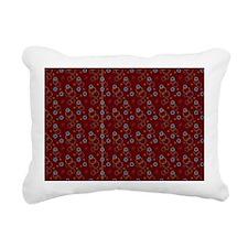 Bubbles Skin-red Rectangular Canvas Pillow
