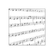 "sheet music Square Sticker 3"" x 3"""