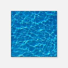 "water Square Sticker 3"" x 3"""