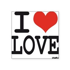 "I love love Square Sticker 3"" x 3"""