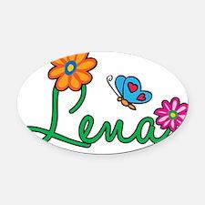 Lena Oval Car Magnet