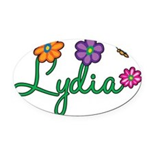 Lydia Oval Car Magnet