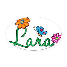 Lara Oval Car Magnet