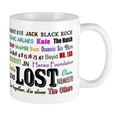 lostcollagerect Small Mug