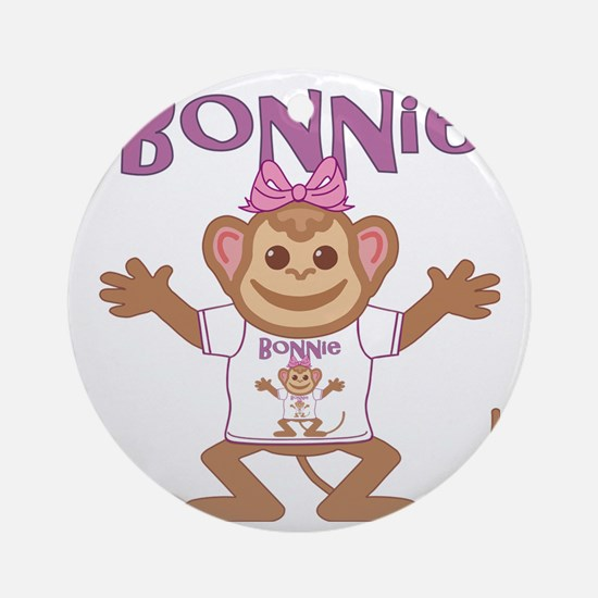 bonnie-g-monkey Round Ornament