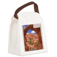 UtahMap28 Canvas Lunch Bag