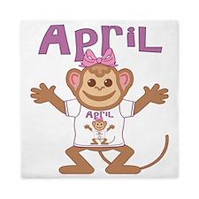 april-g-monkey Queen Duvet