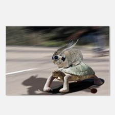 rabbit tortoise mousemat Postcards (Package of 8)