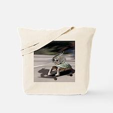 rabbit tortoise mousemat Tote Bag
