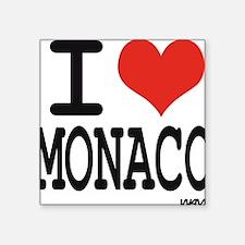 """I love Monaco Square Sticker 3"""" x 3"""""""