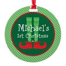 Personalized 1st Christmas Elf Ornament