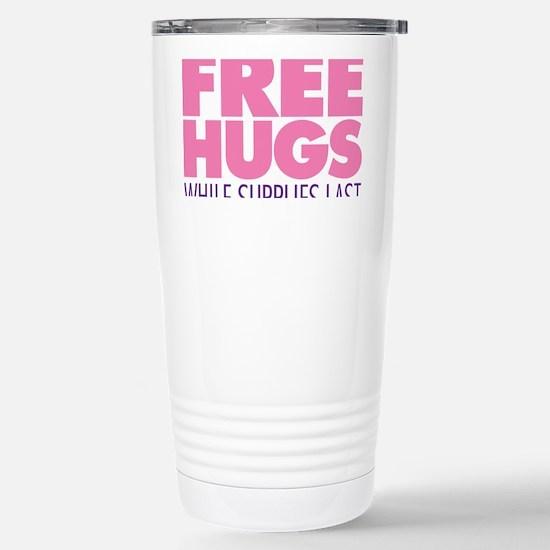 Free Hugs Pink Stainless Steel Travel Mug