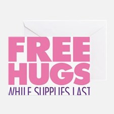 Free Hugs Pink Greeting Card