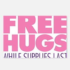 Free Hugs Pink Postcards (Package of 8)