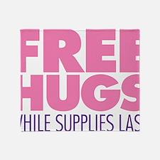Free Hugs Pink Throw Blanket