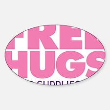 Free Hugs Pink Decal
