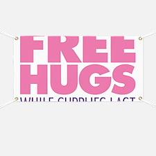 Free Hugs Pink Banner