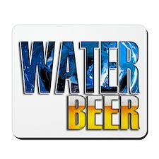 save water drink beer 10 x 10 drk Mousepad