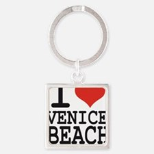 I love Venice Beach Square Keychain