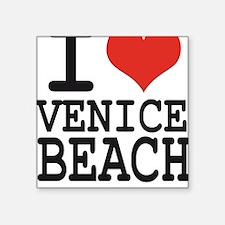 """I love Venice Beach Square Sticker 3"""" x 3"""""""