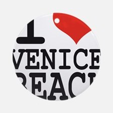 I love Venice Beach Round Ornament