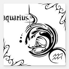 """aquarius8 Square Car Magnet 3"""" x 3"""""""