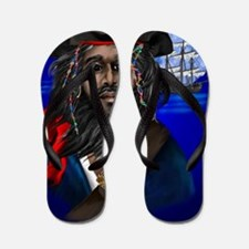 Pirate and Ship PosterP Flip Flops